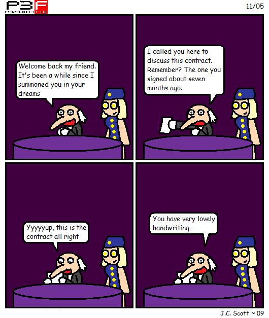 The Velvet Room Contract